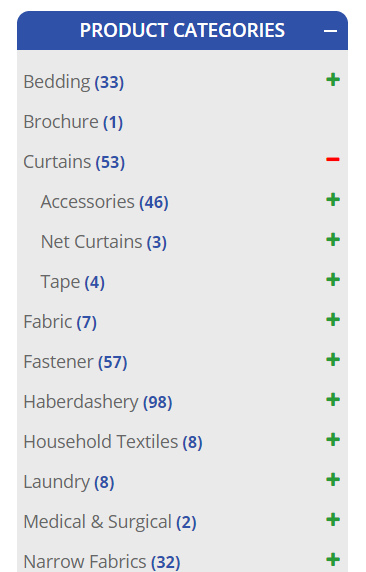 Searching using product categories