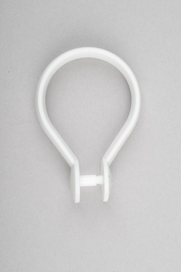 C0153 Shower Curtain Rings Plastic Clip On
