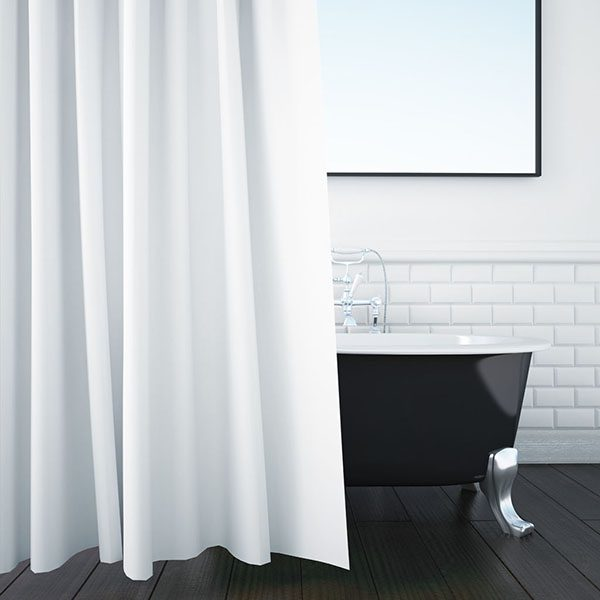 TS0702X Flame Retardant Anti MRSA Shower Curtain White 40C Width X Height