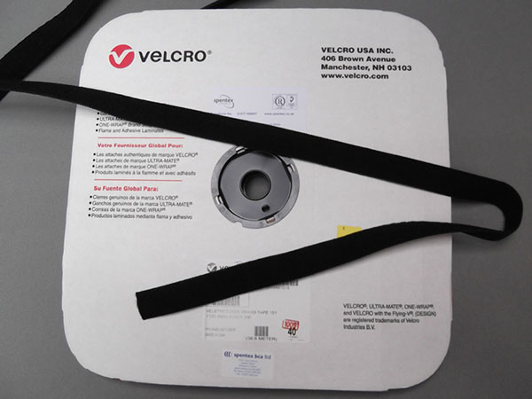 T0805L Elasticated VELCRO® brand Loop 25mm 40 yards Black