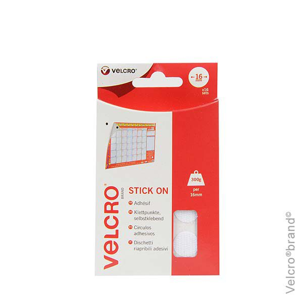 T0910-VELCRO-brand-Stick-On-Coins-Hook-Loop-16mm-x-16-sets-White